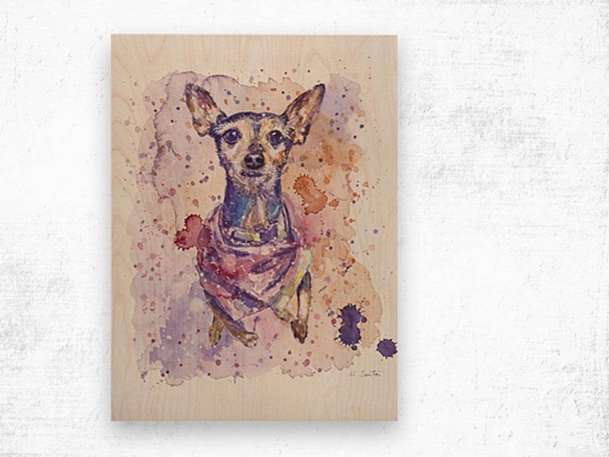 Chihuahua - Portrait of Gigi Wood print