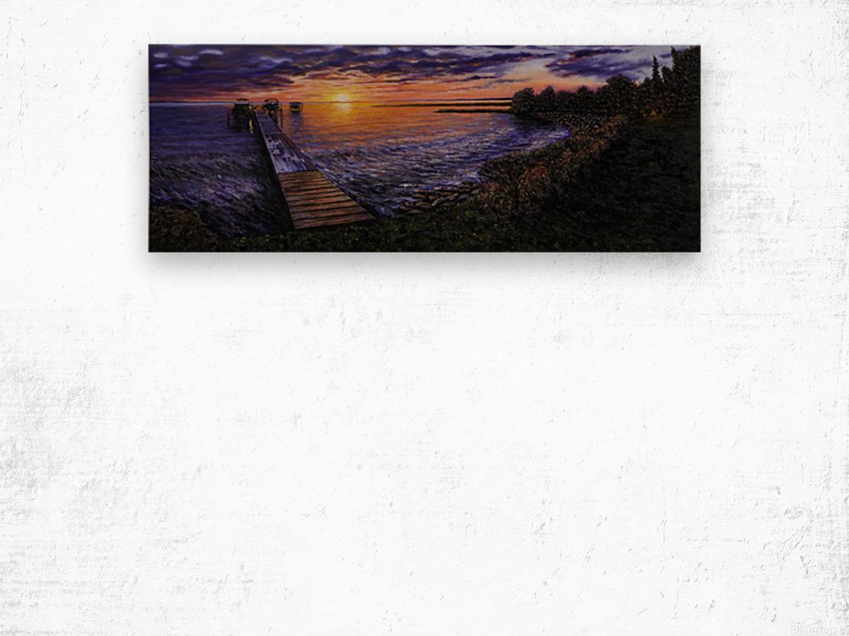 Sylvan Lake Wood print