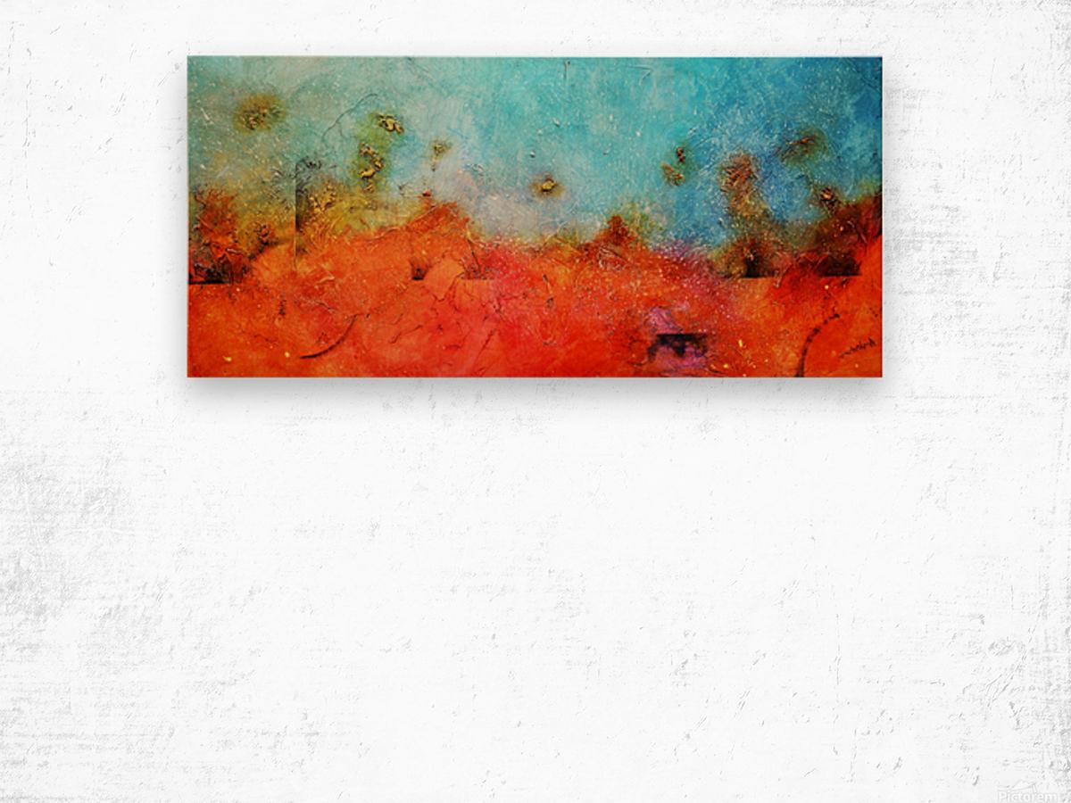 Abstract 45 Wood print