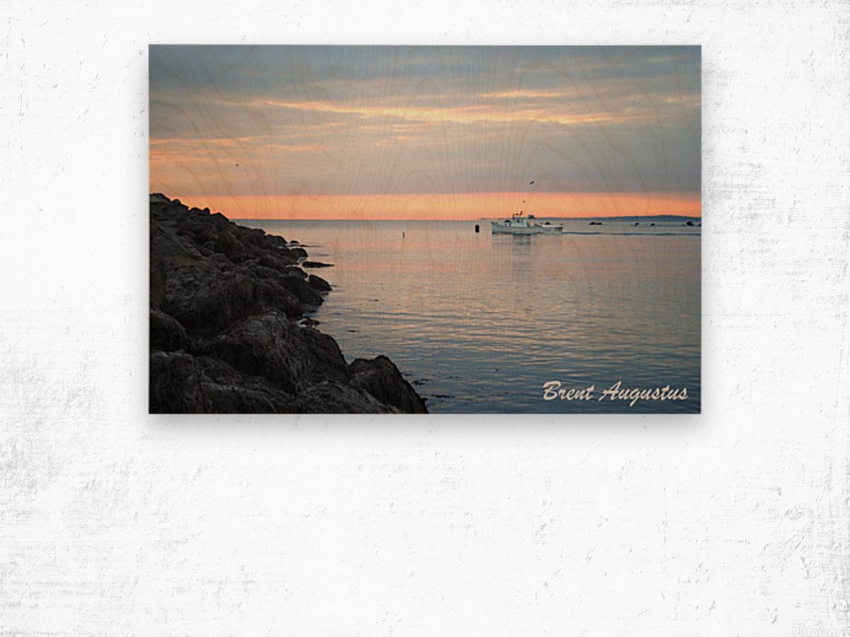 Sunrise Bay Wood print