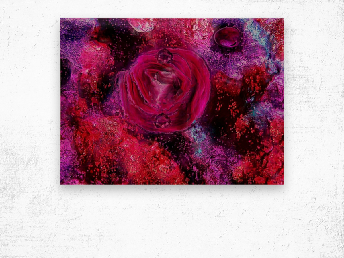 Rose me up Wood print