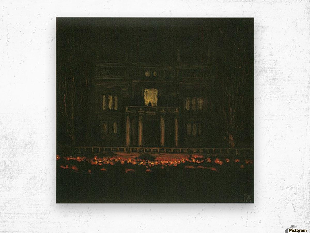 Torches by Franz von Stuck Wood print