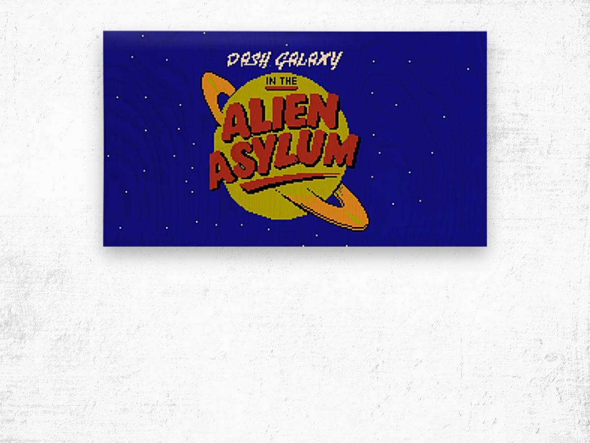 alien asylum Wood print