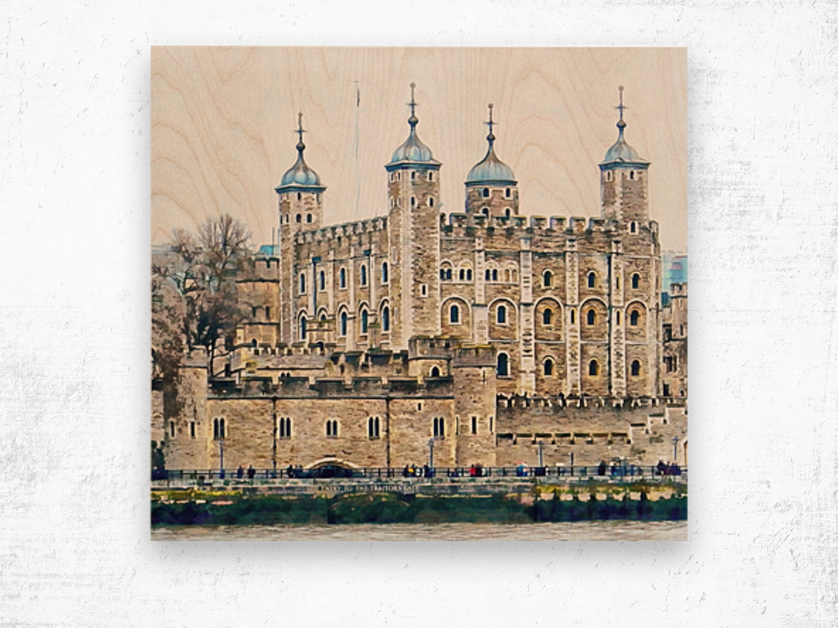 Tower of London 2 Wood print