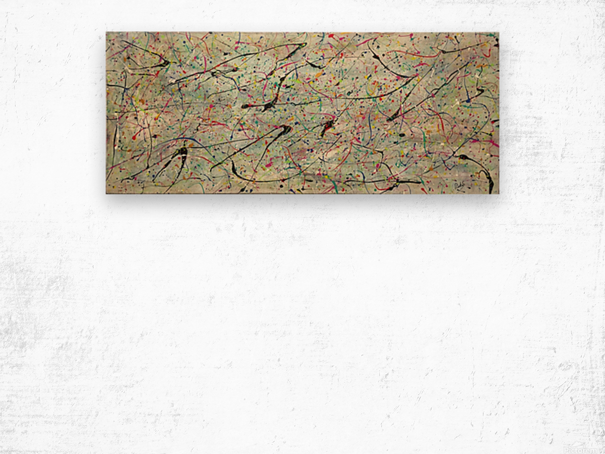 ABSTRACTION SPACIALE Wood print