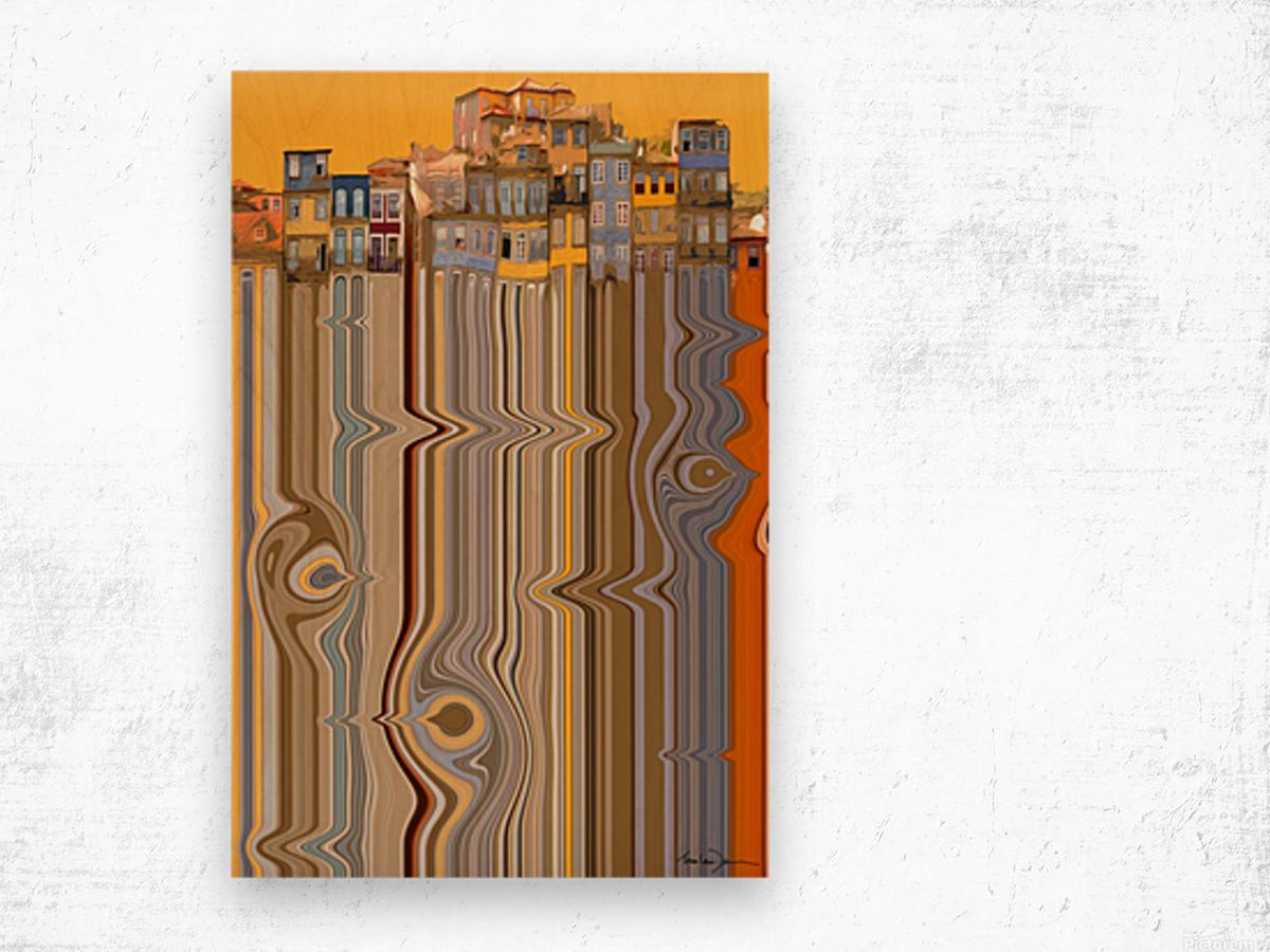 Porto - Ribiera Wood print