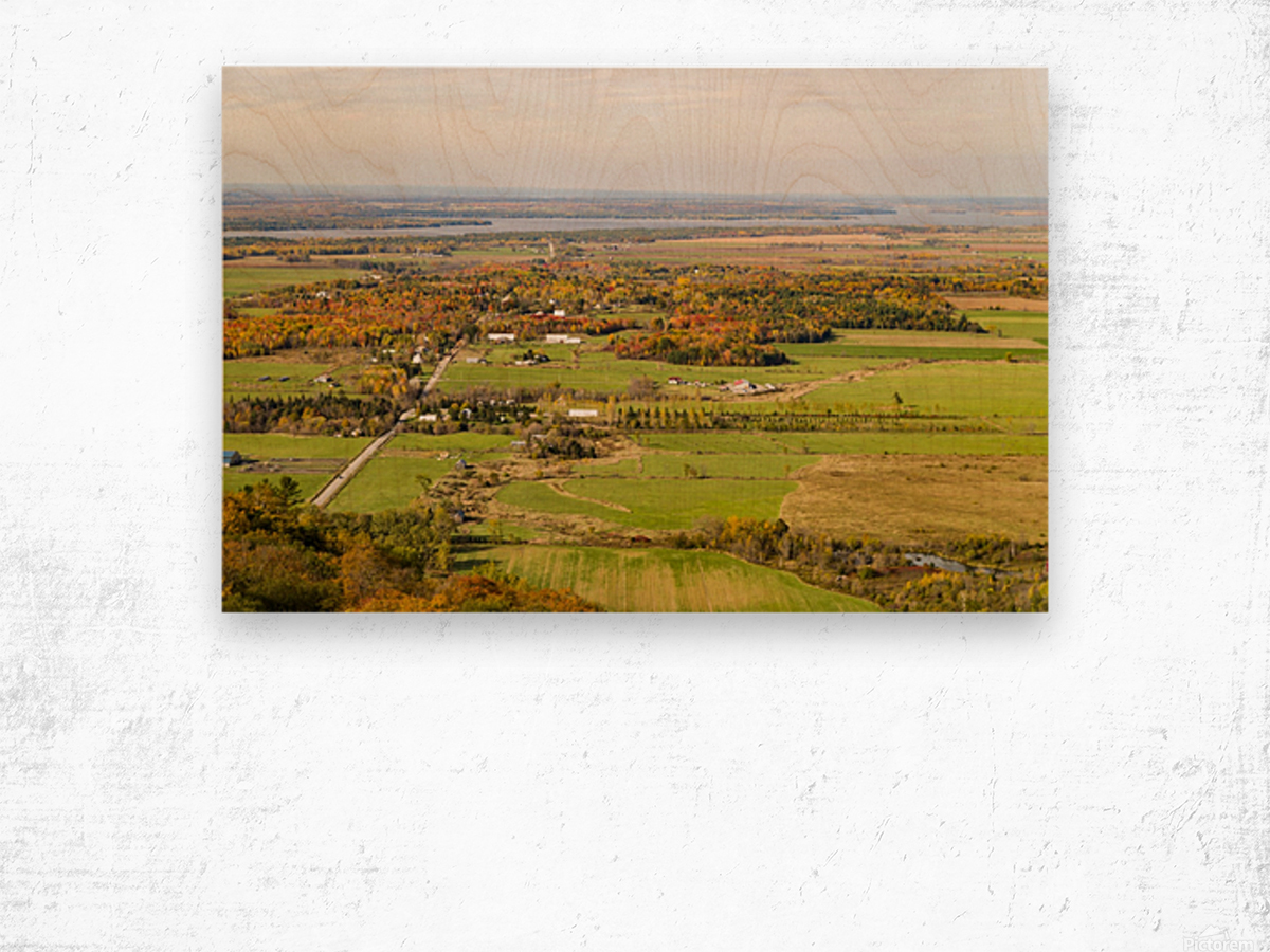 View of Ottawa Valley in Autumn18 Wood print