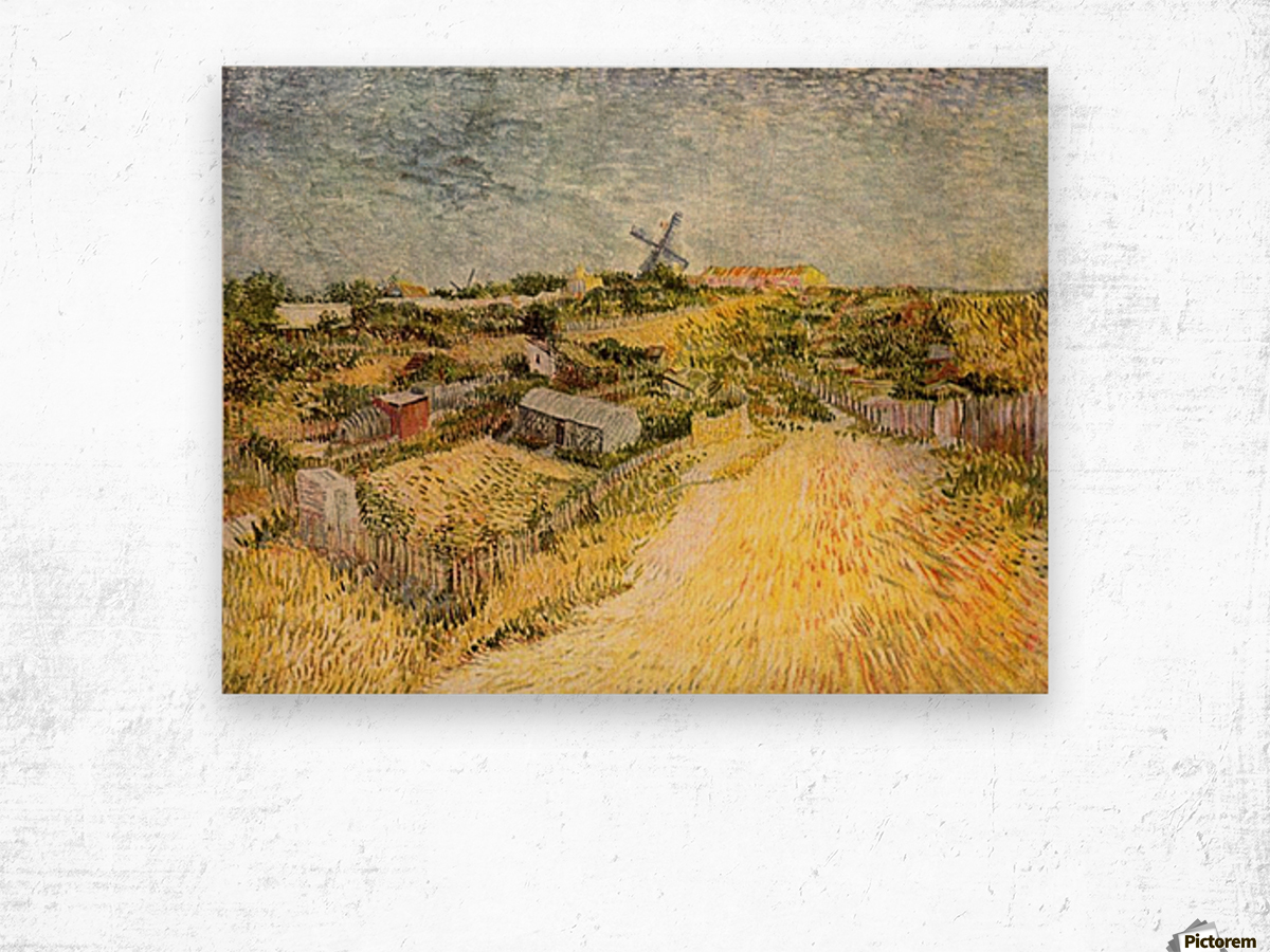 Vegetable Gardens in Montmartre by Van Gogh Wood print