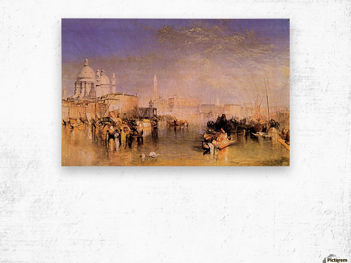 Venice from the canal by Joseph Mallord Turner Wood print