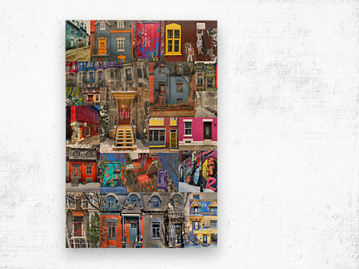 Plateau Mont-Royal Montreal Wood print