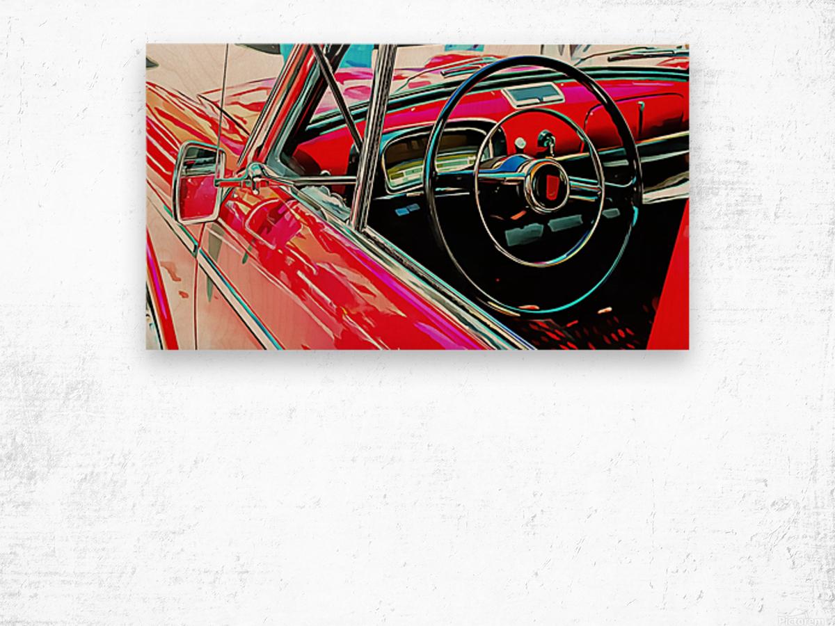 Fiat 1100 D Through The Window Wood print
