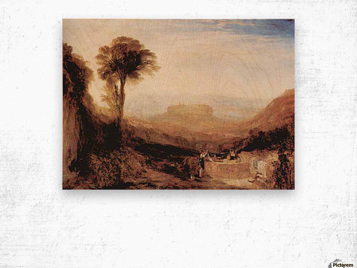 View of Orvieto, painted in Rome by Joseph Mallord Turner Wood print