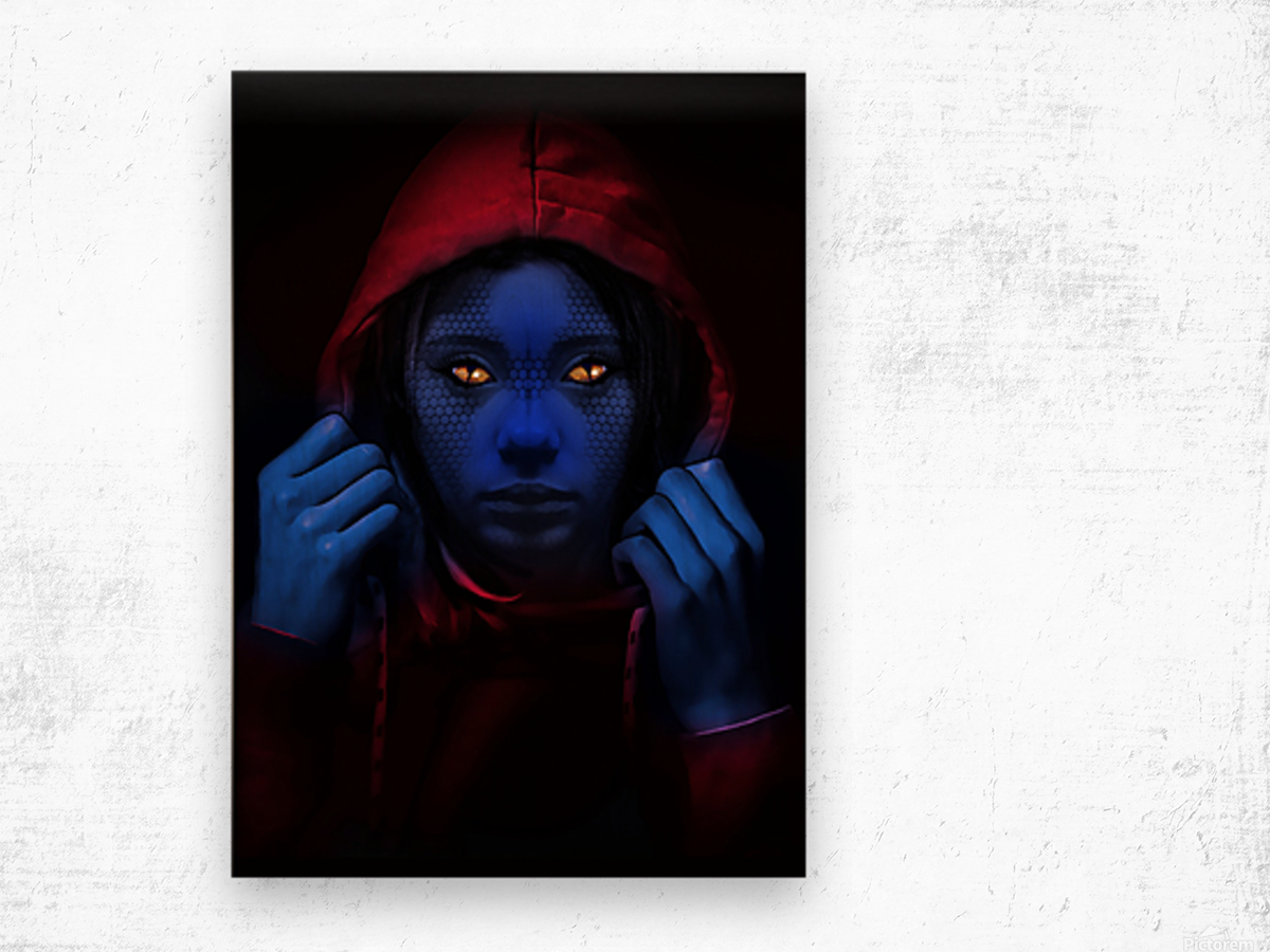 Blue Indigo Wood print