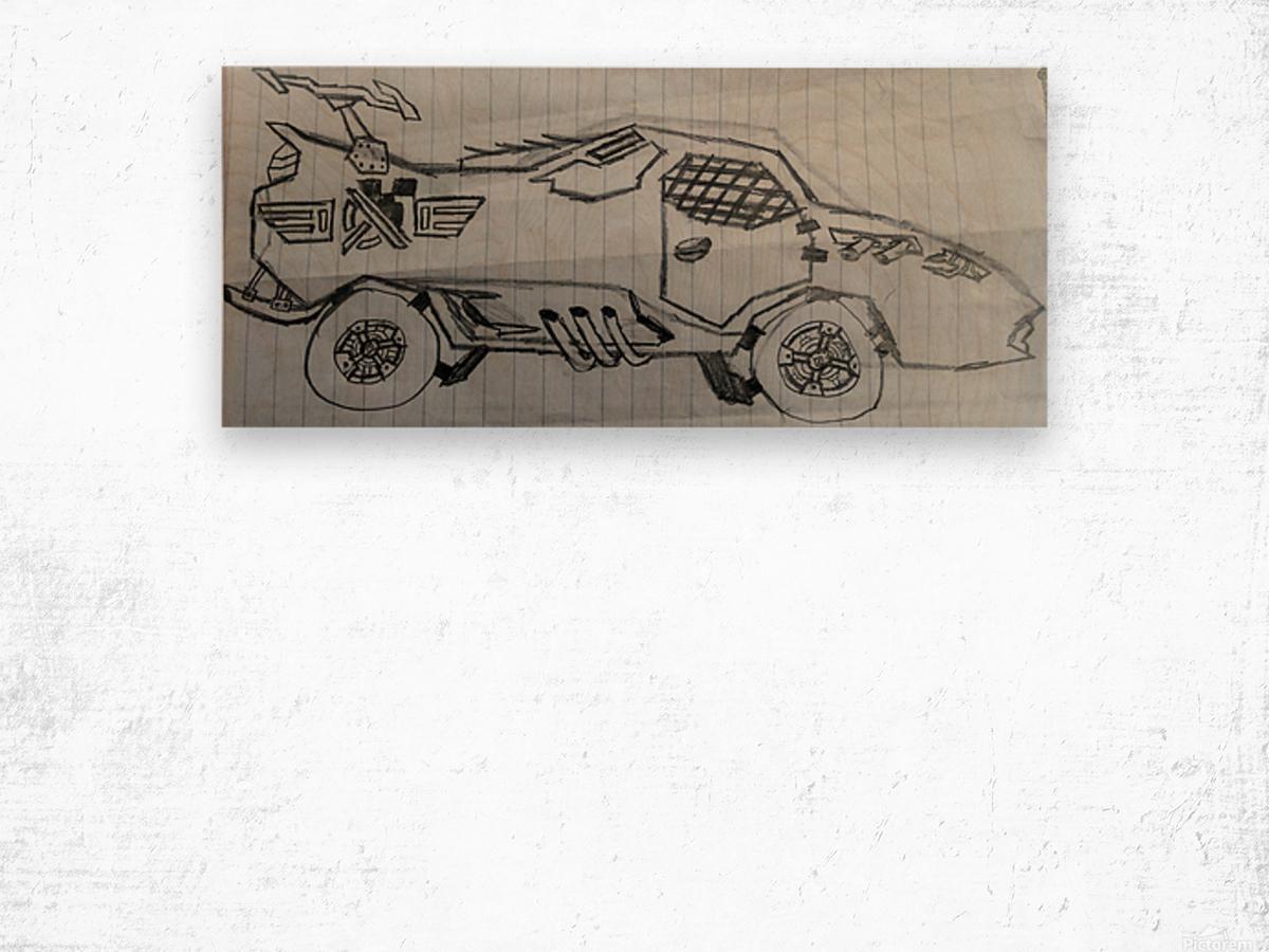 Off Road Super Car Wood print