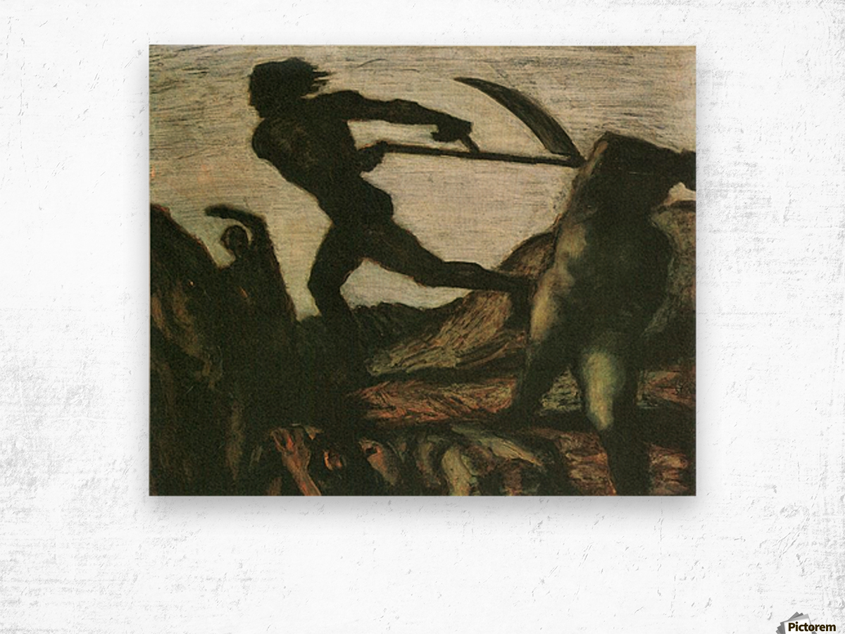 Warrior by Franz von Stuck Wood print