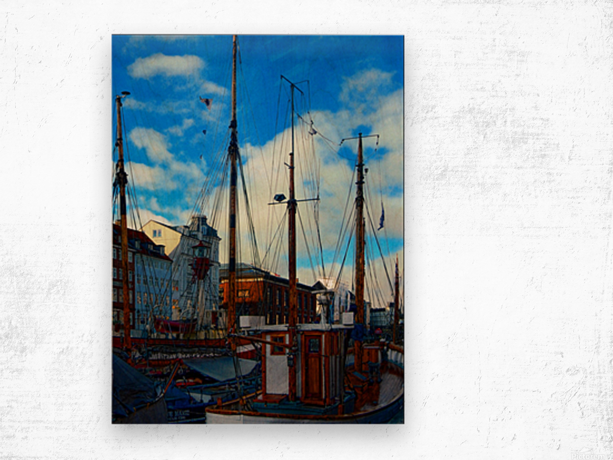 A Study in Masts Wood print