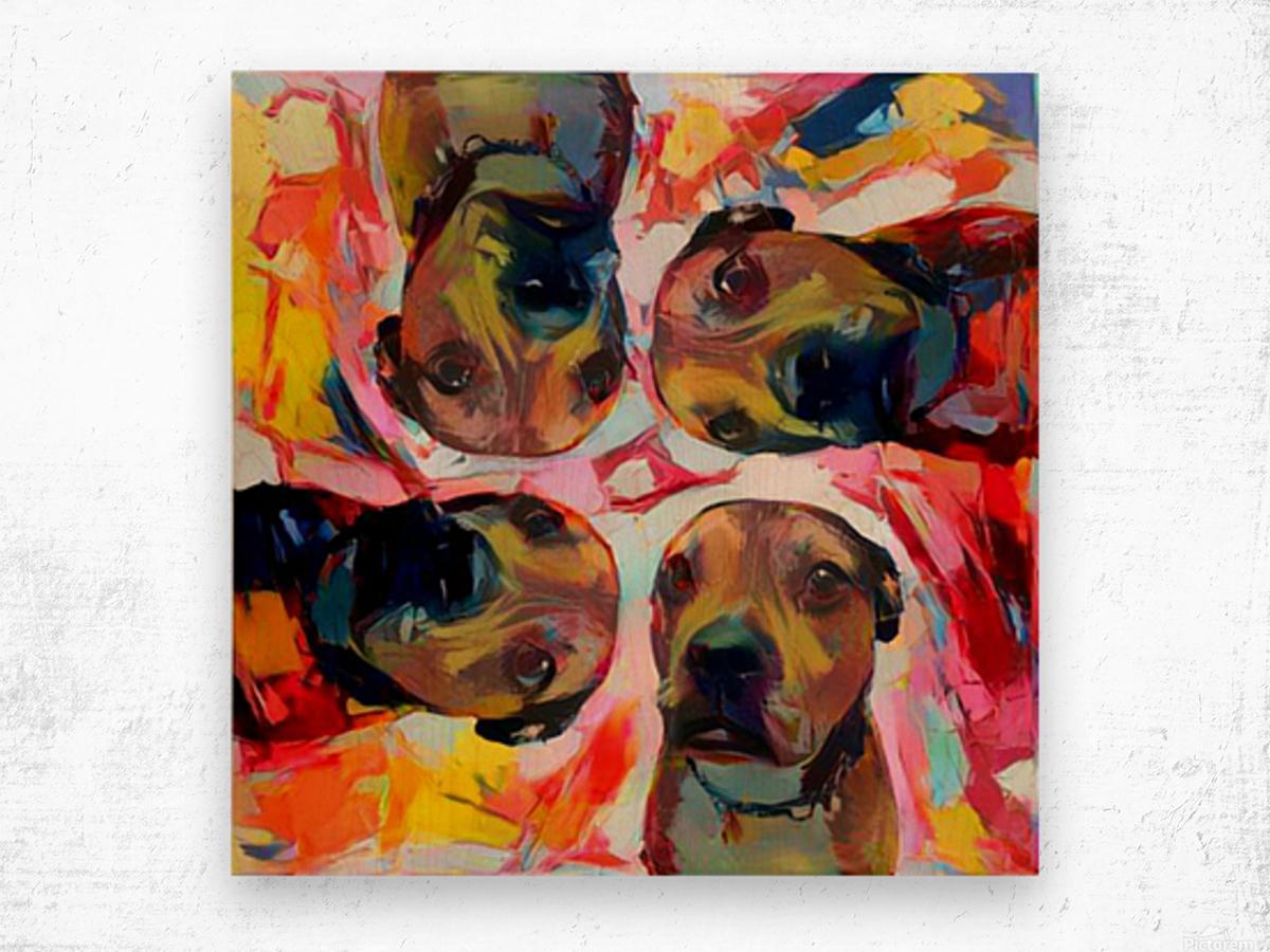Dog Painting (8) Wood print