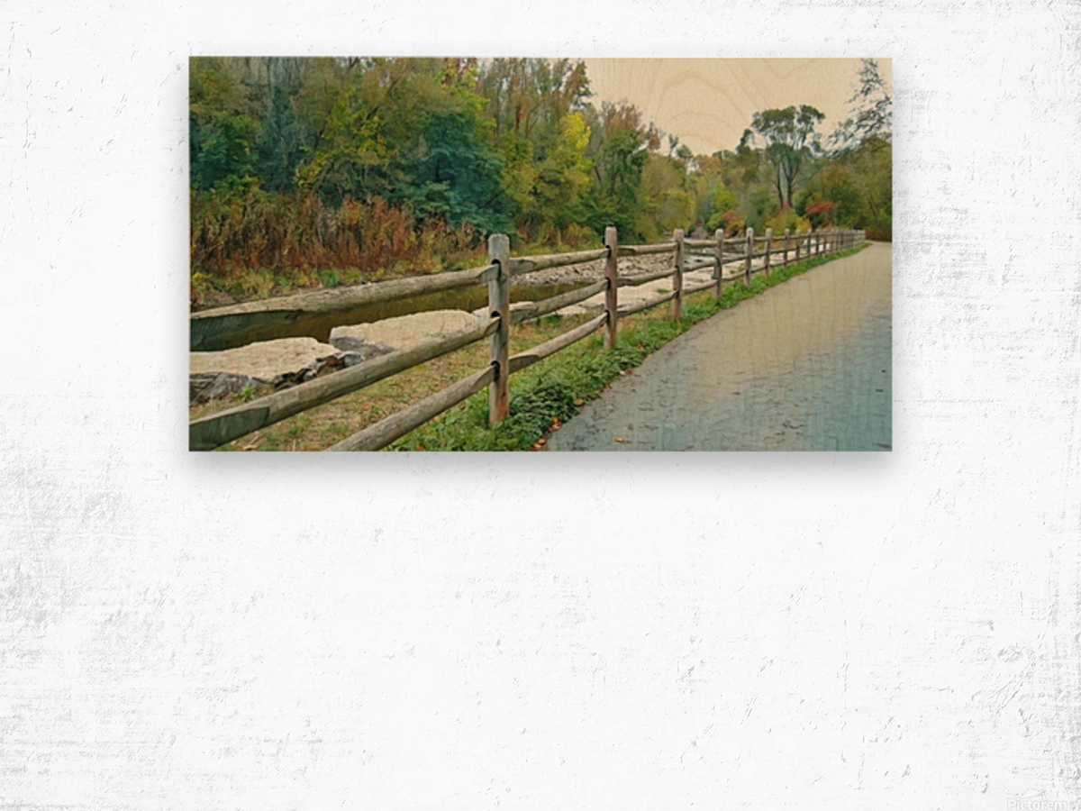 Original Landscape Painting No. 13 from The Billy Truong Art Collection Wood print