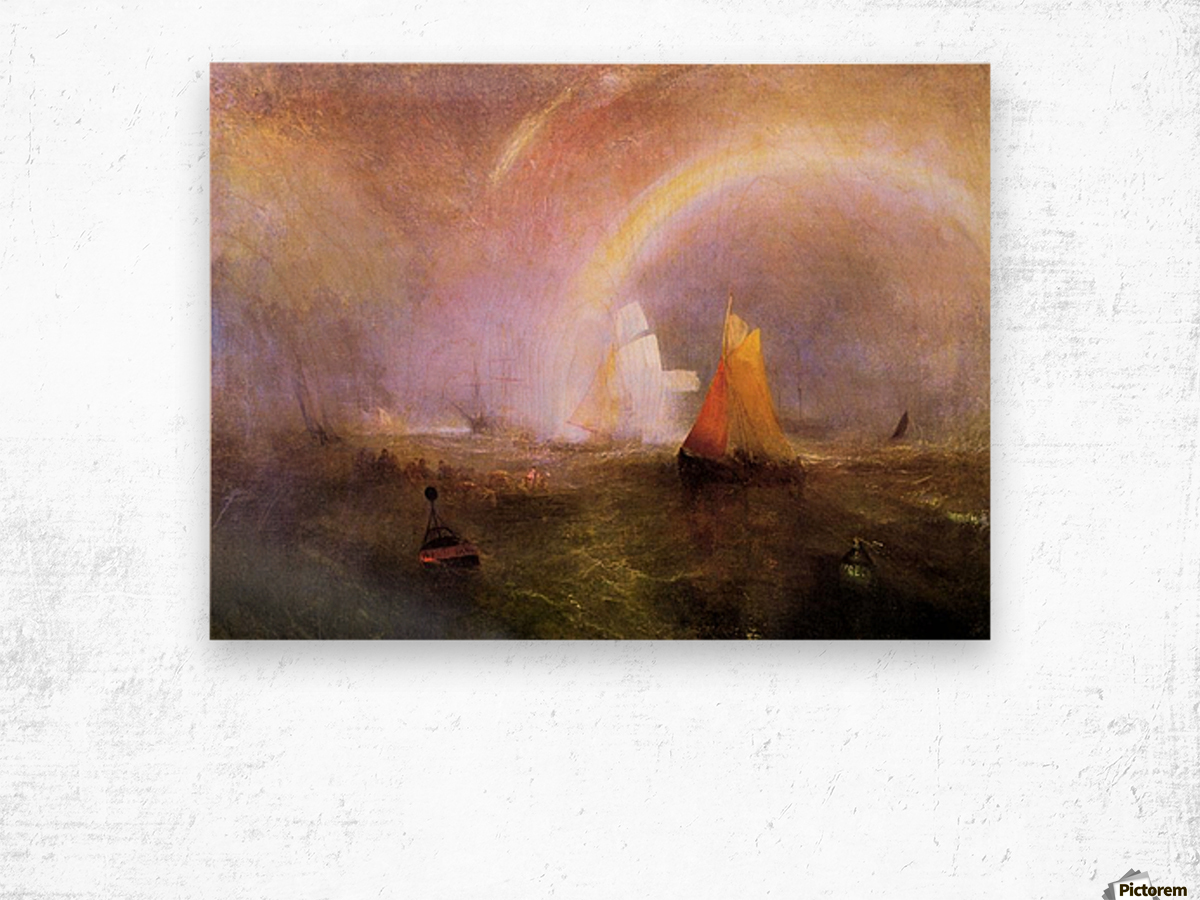 Wrecked bouys by Joseph Mallord Turner Wood print