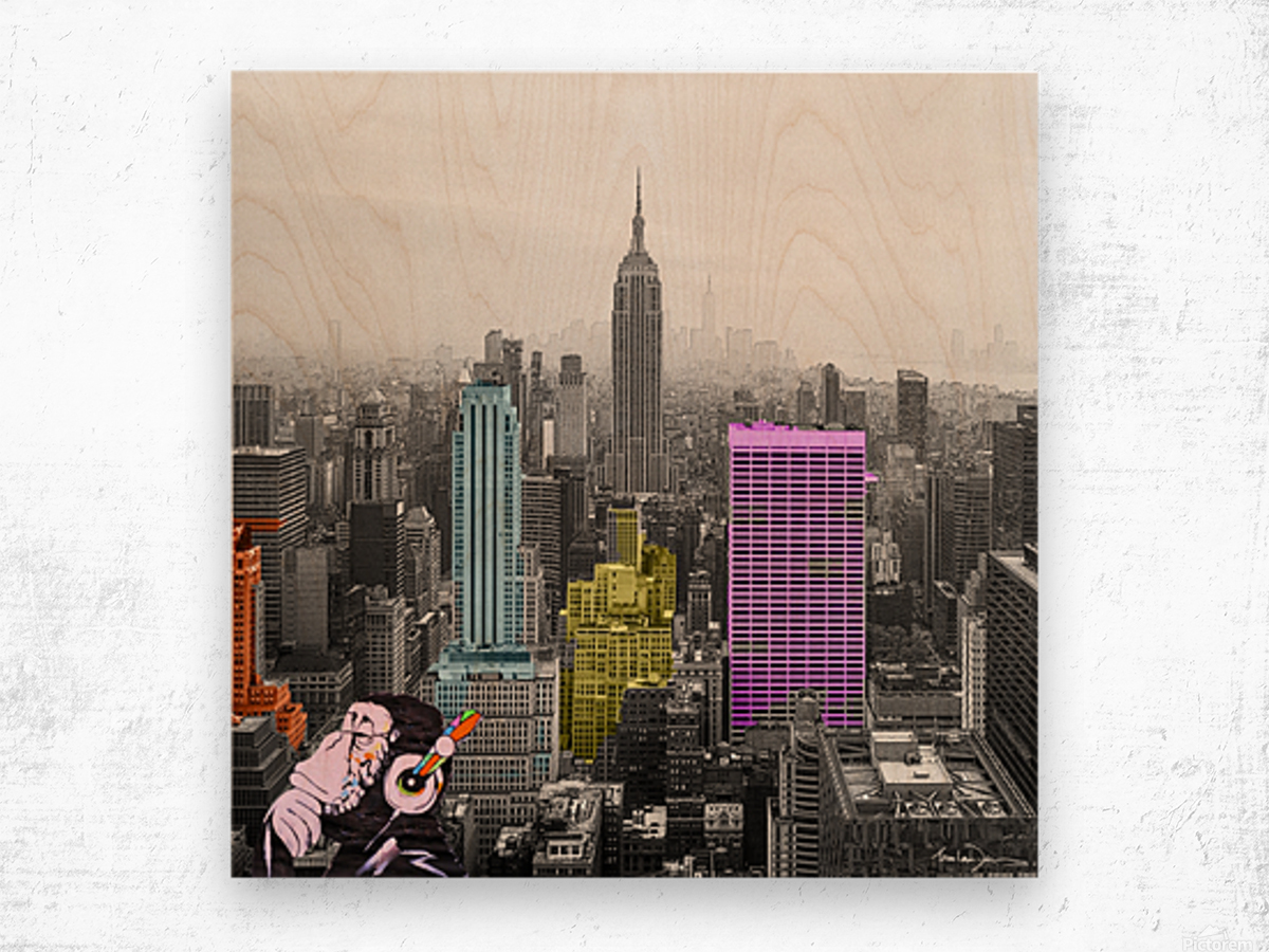 New York - Empire State Building Wood print