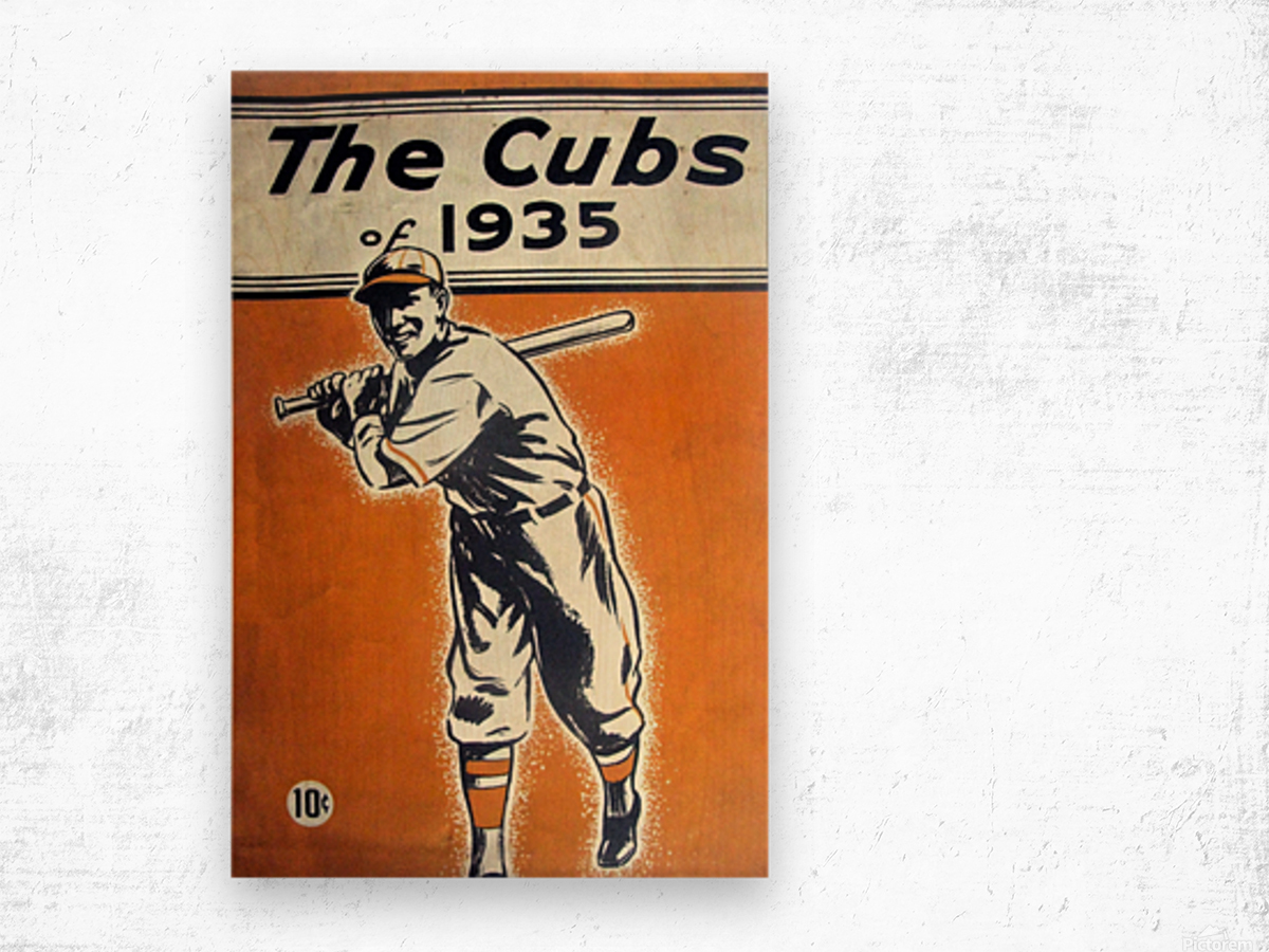 1935 Chicago Cubs Program Cover Wood print