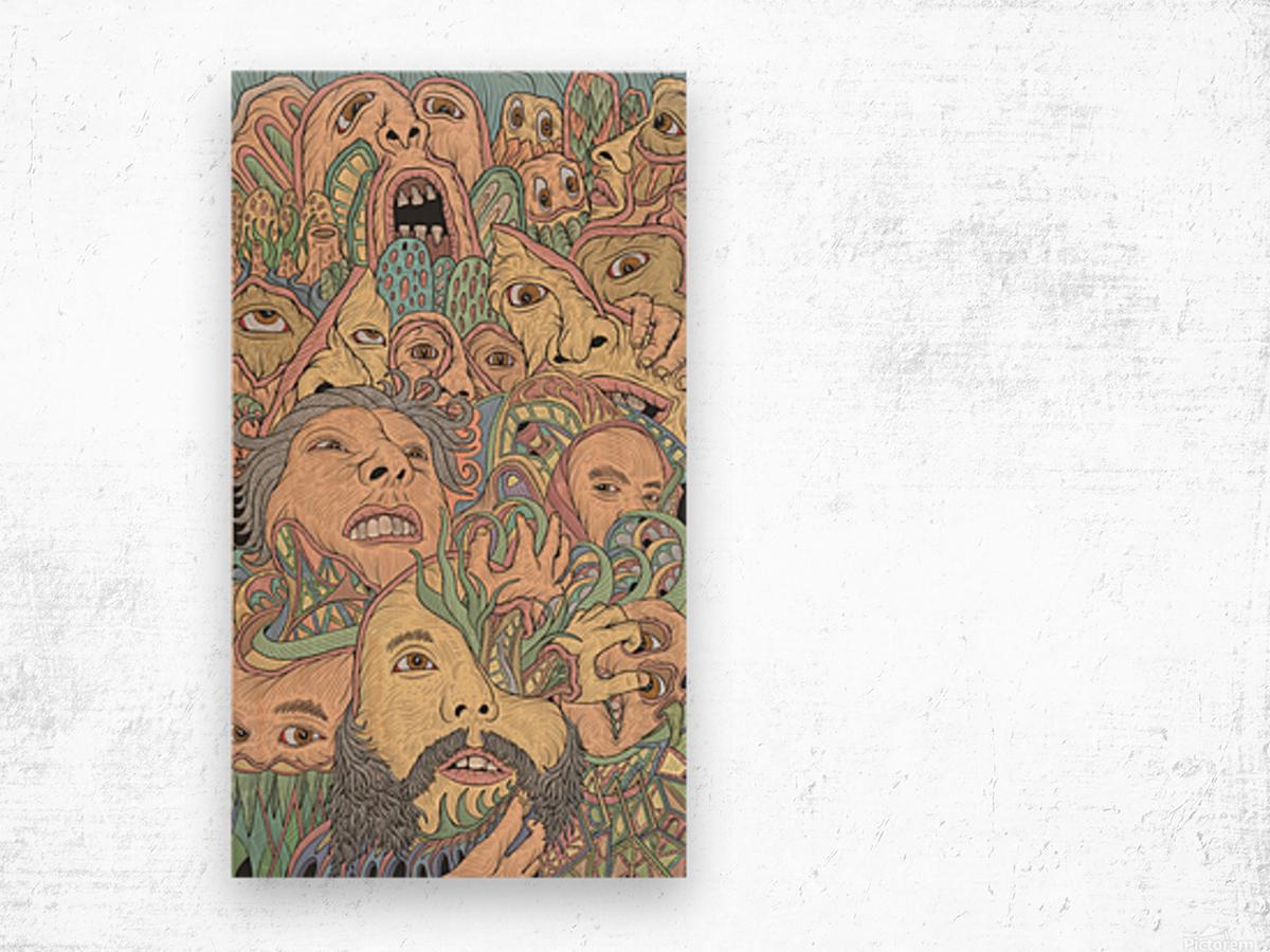 Silent Rage Wood print