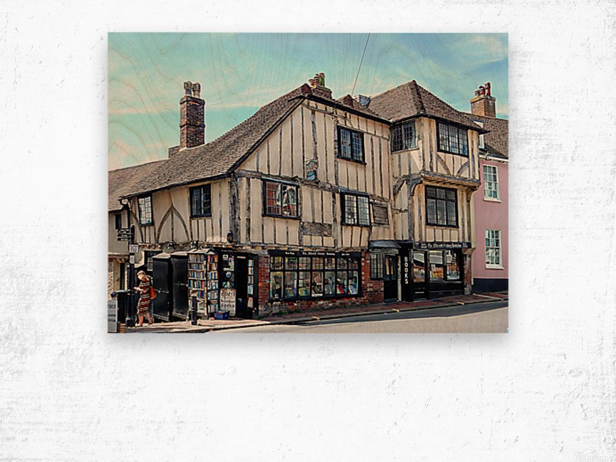 Ye Olde Bookshop Lewes front view Wood print