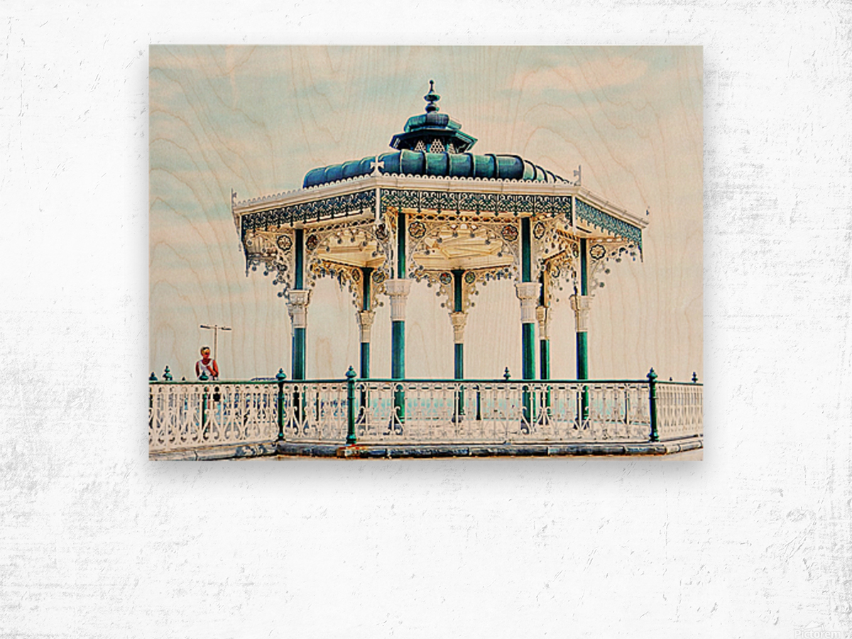 The Bandstand on Brighton Seafront Wood print
