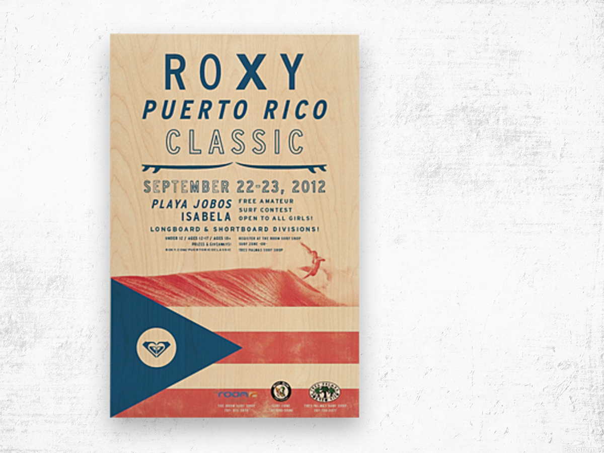 2012 ROXY PUERTO RICO CLASSIC Surfing Competition Print Wood print