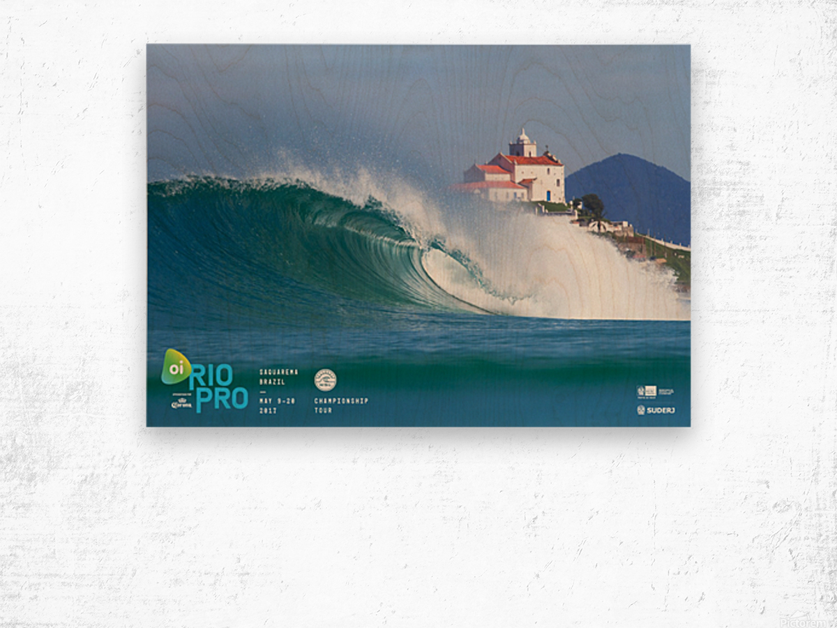 2017 RIO PRO Surf Competition Print Wood print