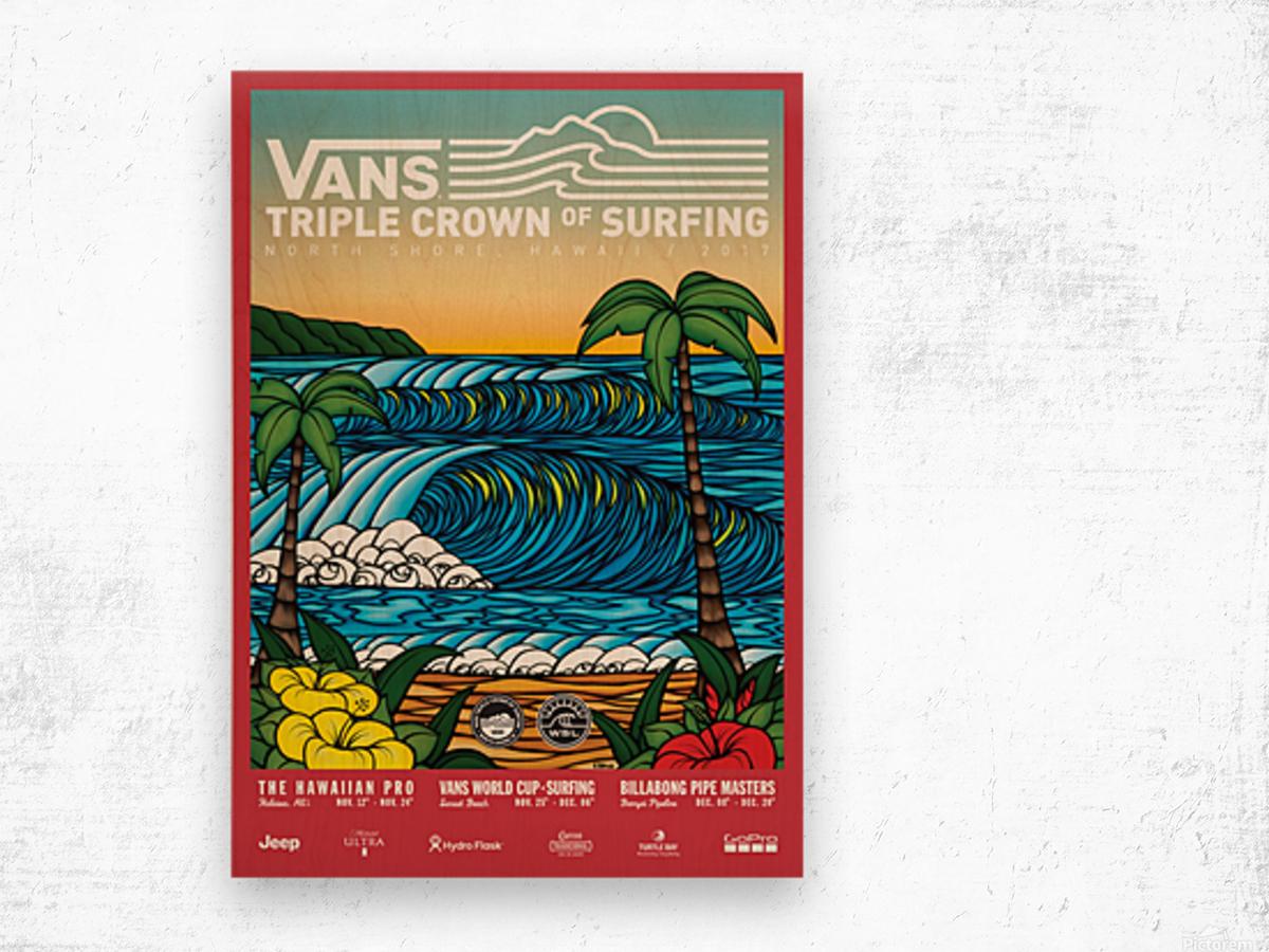 2017 VANS TRIPLE CROWN OF SURFING Competition Print Wood print