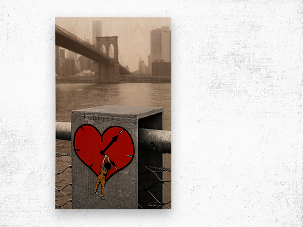 Fight - Peace - Love Wood print