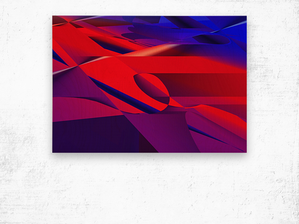 red and blue 0513a219 Wood print