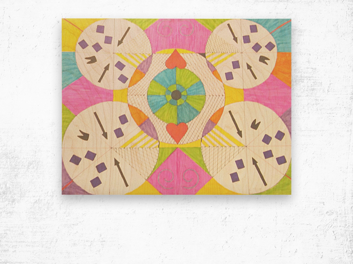 Wheels of Abstraction Wood print