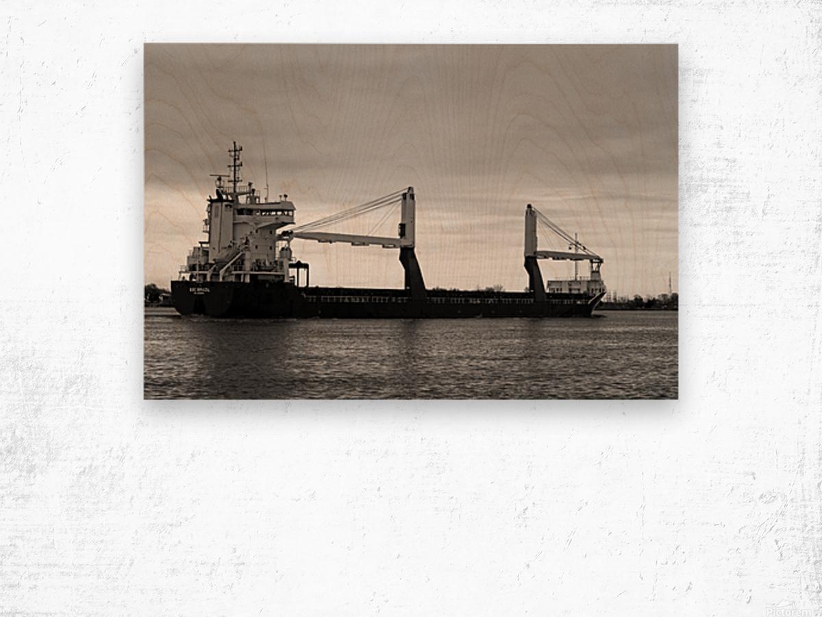 A Dark Ship and Dark Day 051219 Wood print