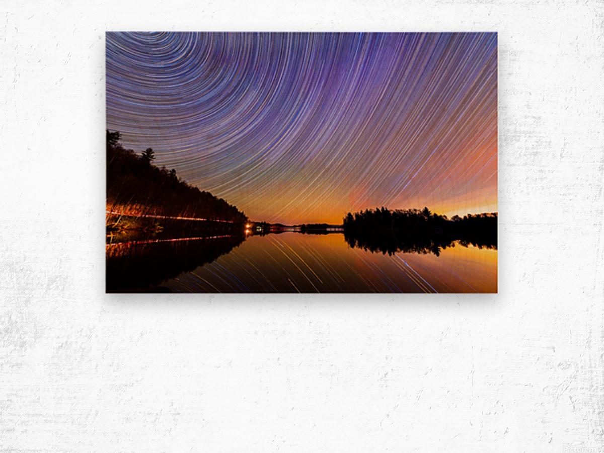 StarTrails Quebec Wood print
