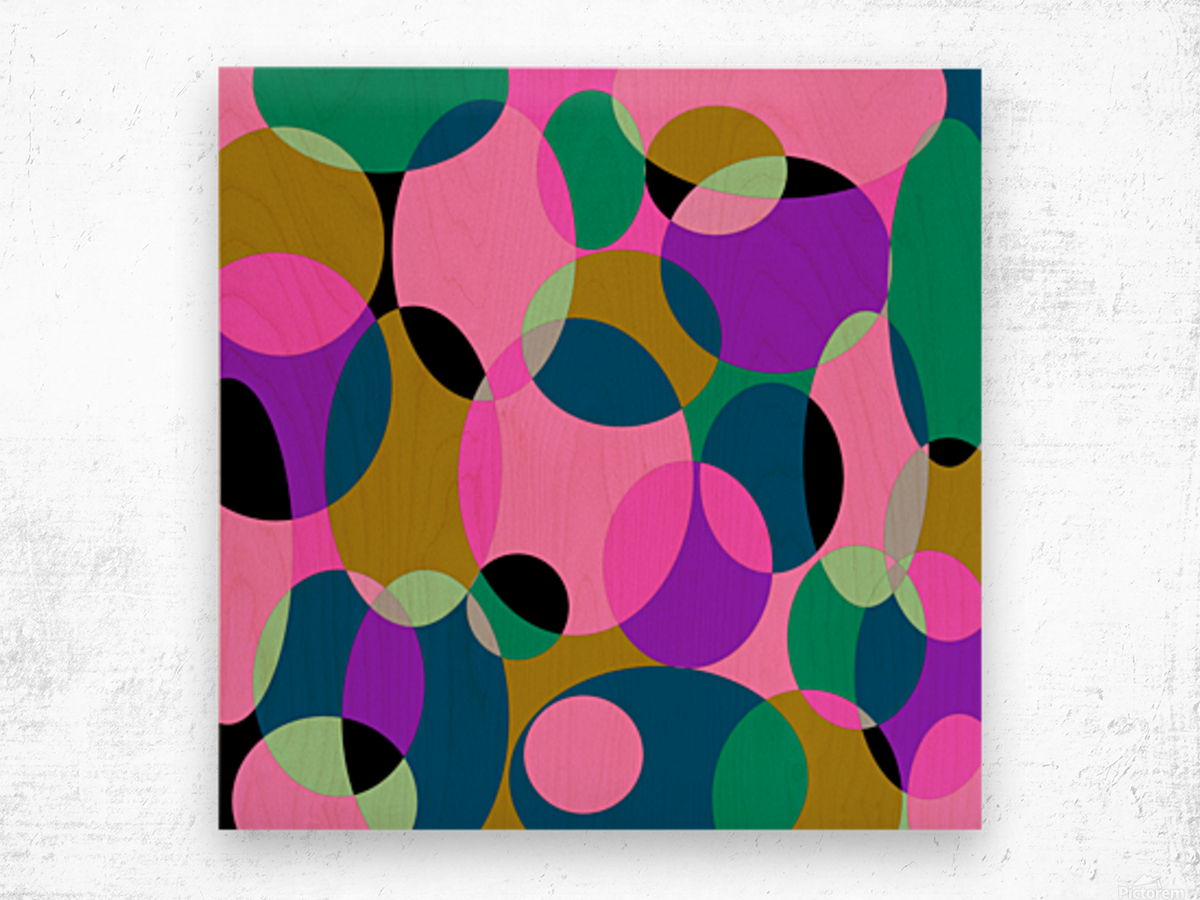 This is a beautiful design with great color, shape, line, texture, space and value.  (50) Wood print