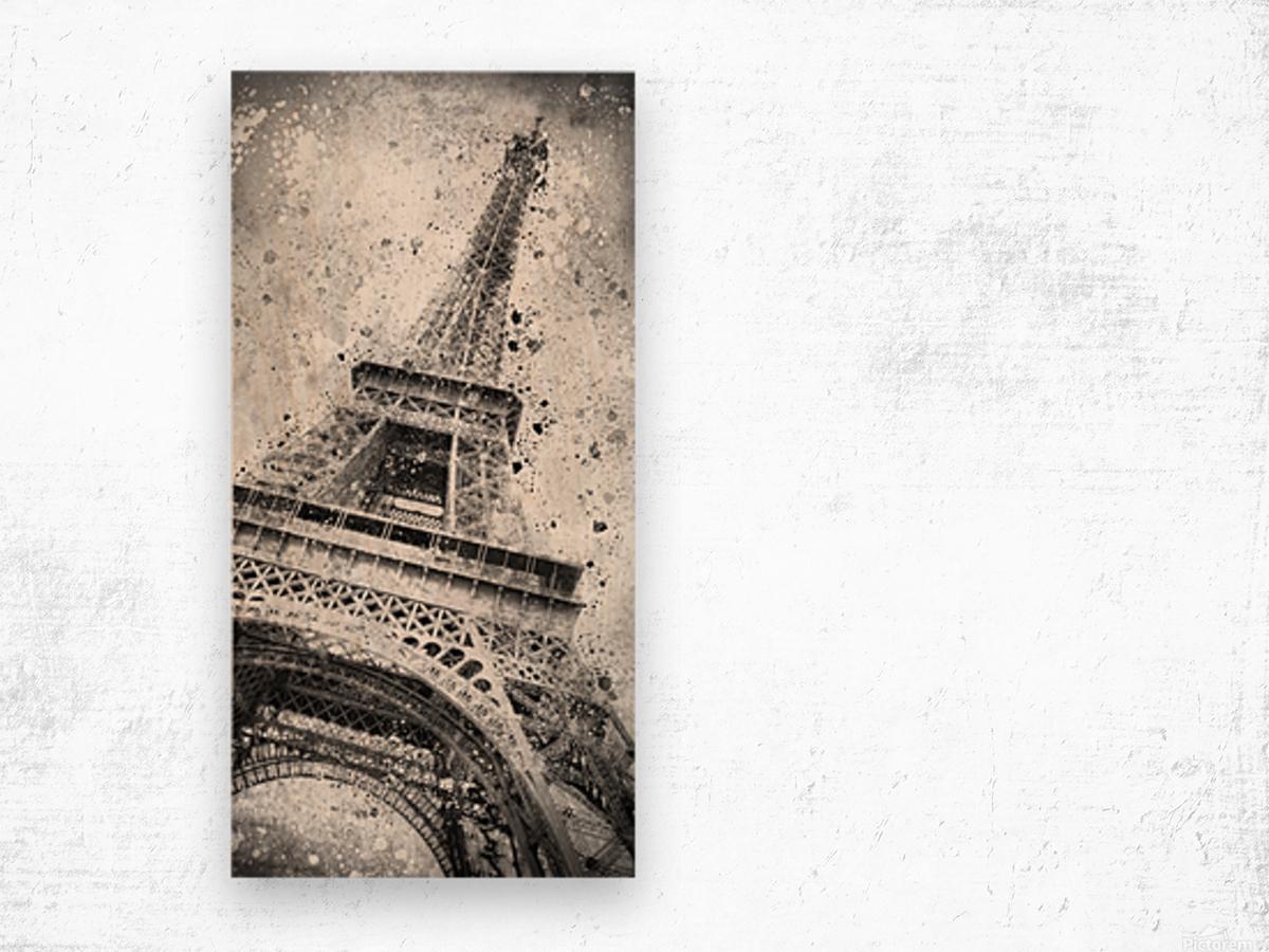 Monochrome Art EIFFEL TOWER  Wood print