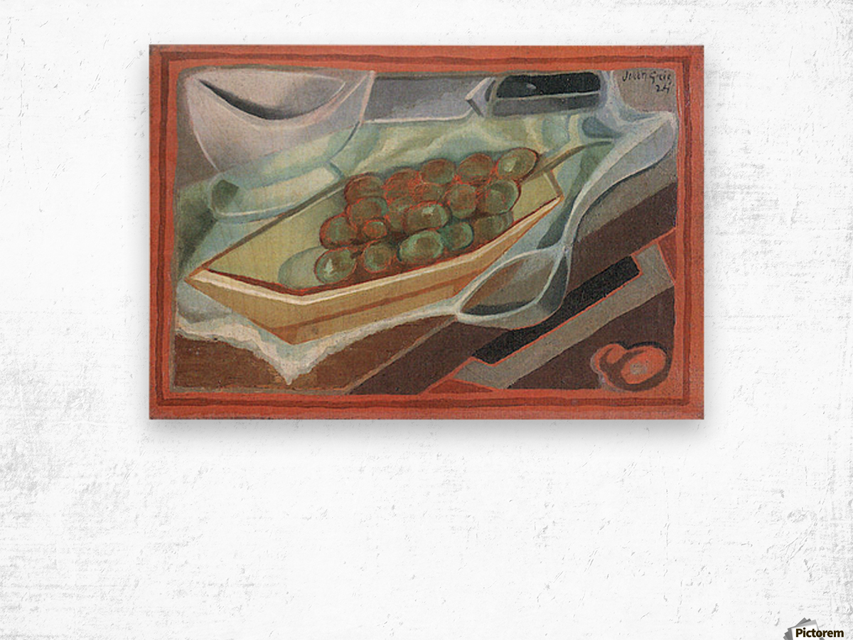 Grapes by Juan Gris Wood print