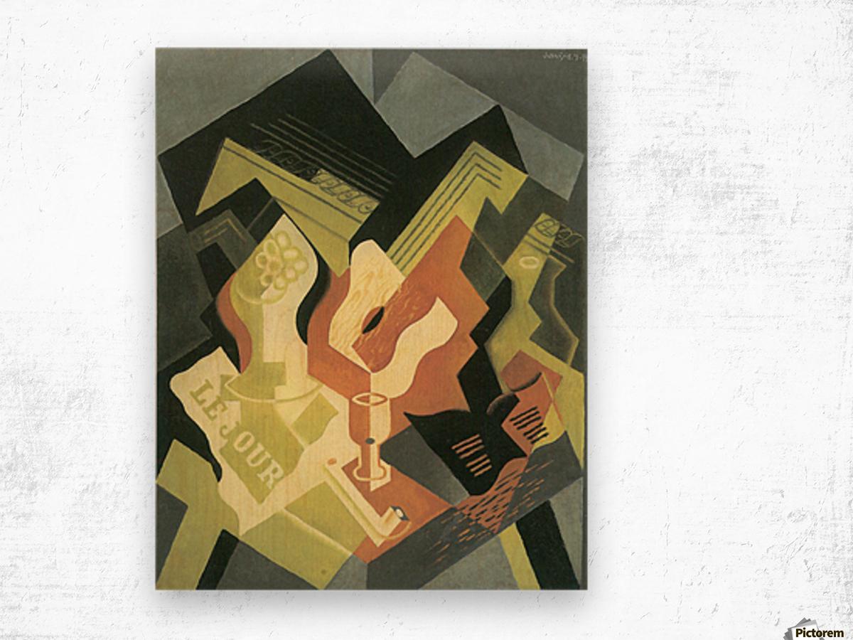 Guitar and Fruit Bowl -2- by Juan Gris Wood print