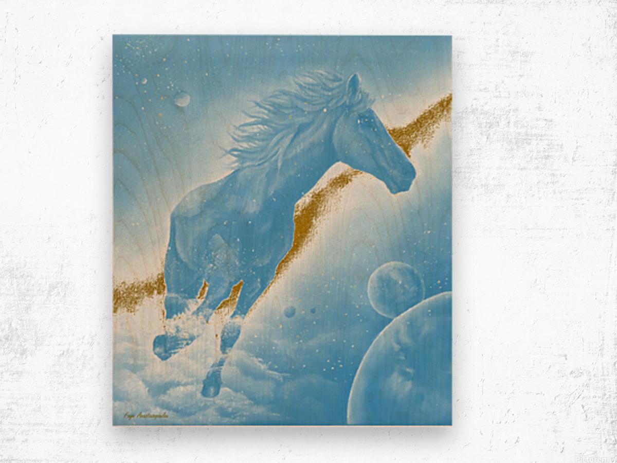 Celestial Horse Wood print