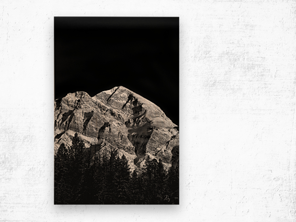Mountain At Dawn... Wood print