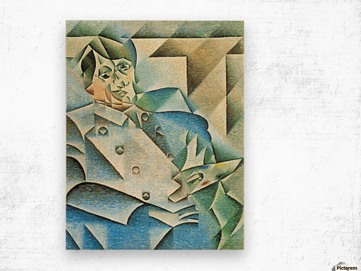 Homage to Pablo Picasso by Juan Gris Wood print