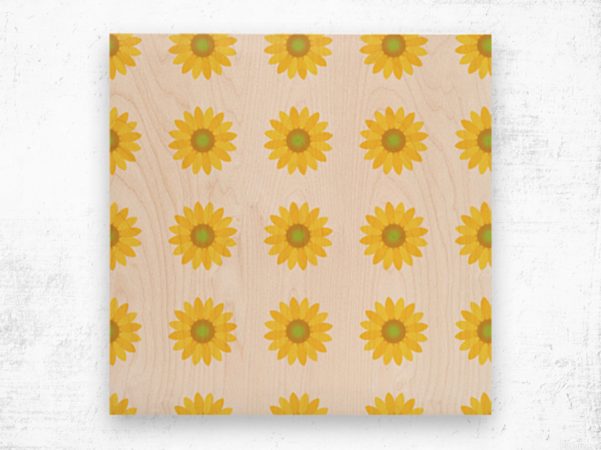 Sunflower (4)_1559876734.9476 Wood print