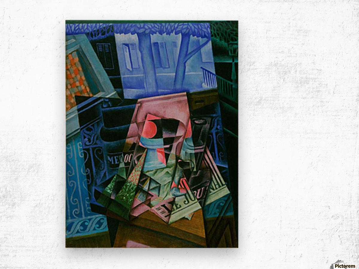 Juan Gris - Still Life before an Open Window Wood print