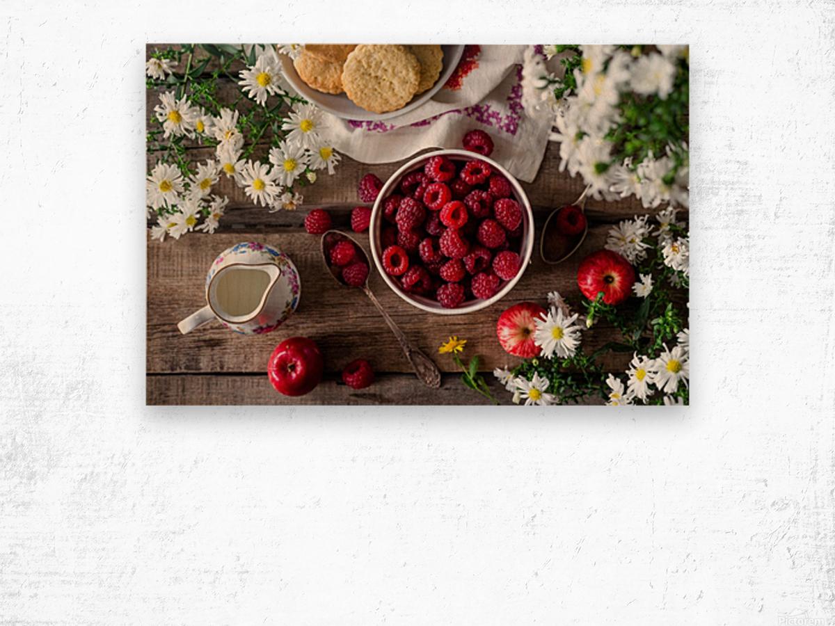 Apples Berries  Wood print