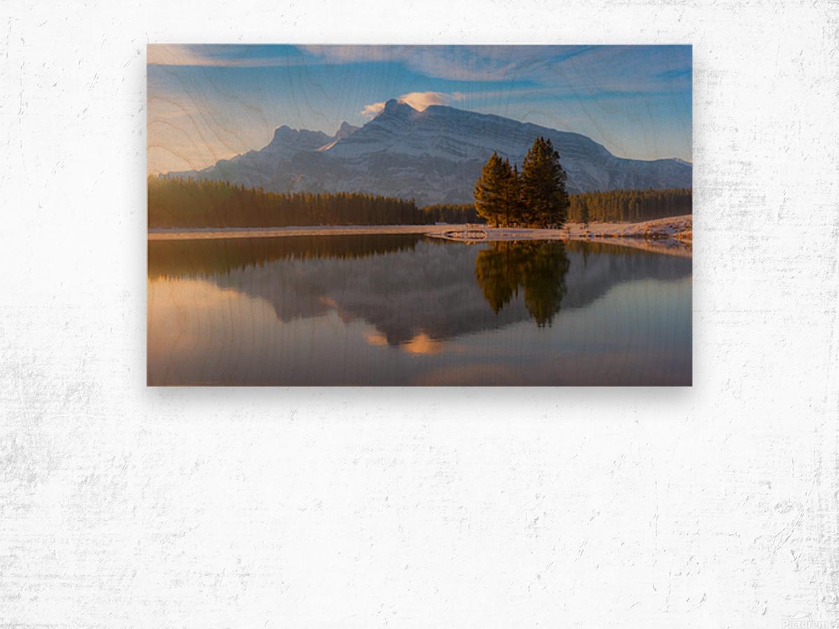 Two jack lake 2018 Wood print