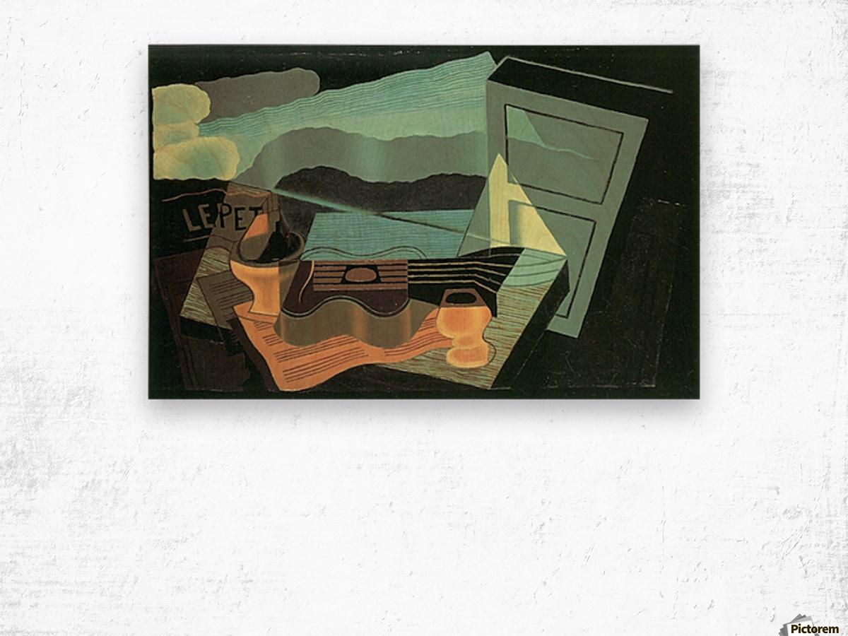 Overlooking the bay by Juan Gris Wood print