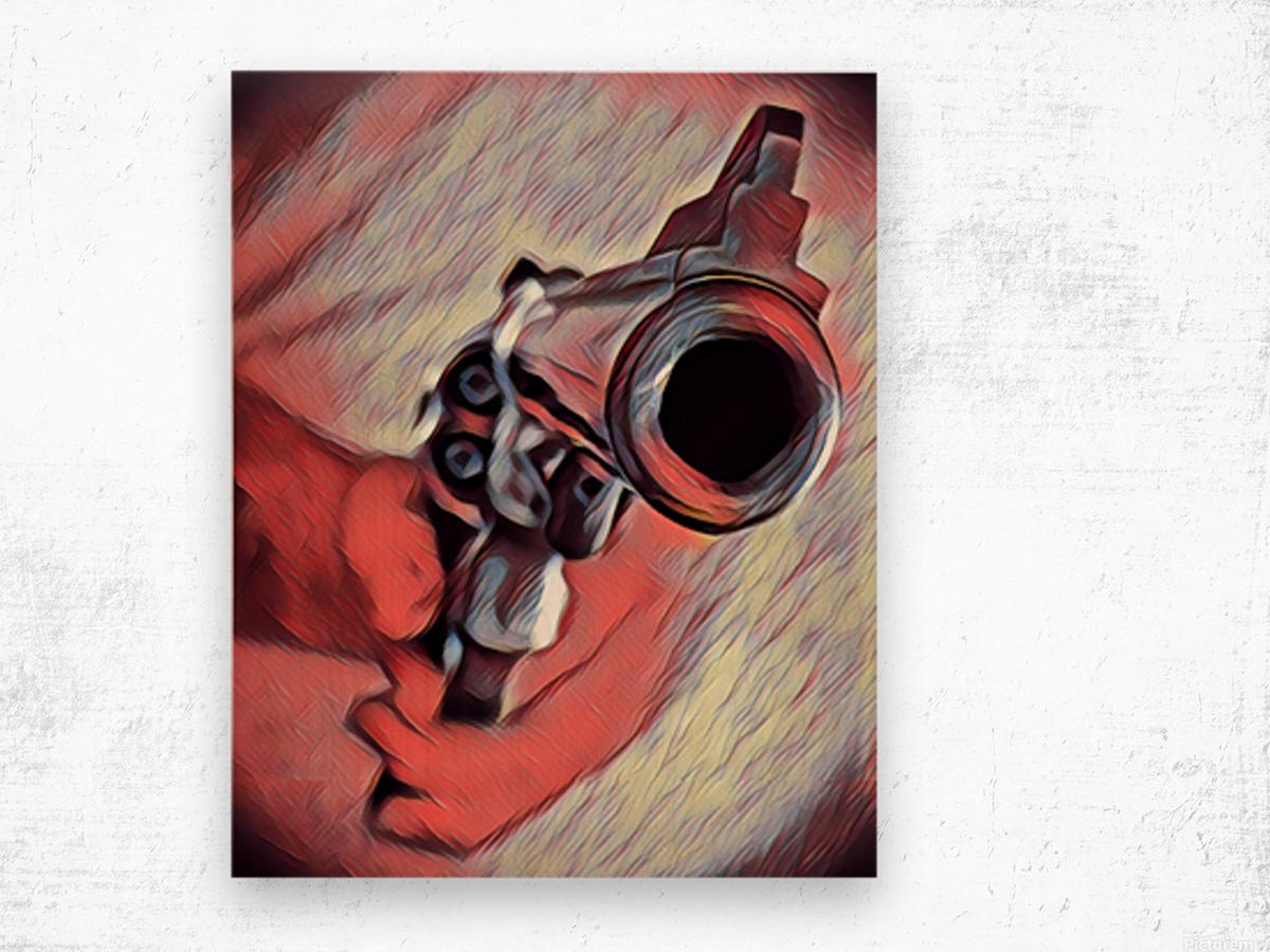 44 mag Art Wood print