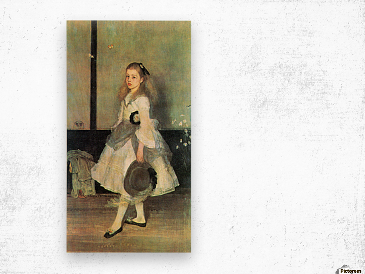 Portrait of Miss Alexander by James Abbot McNeill Whistler Wood print